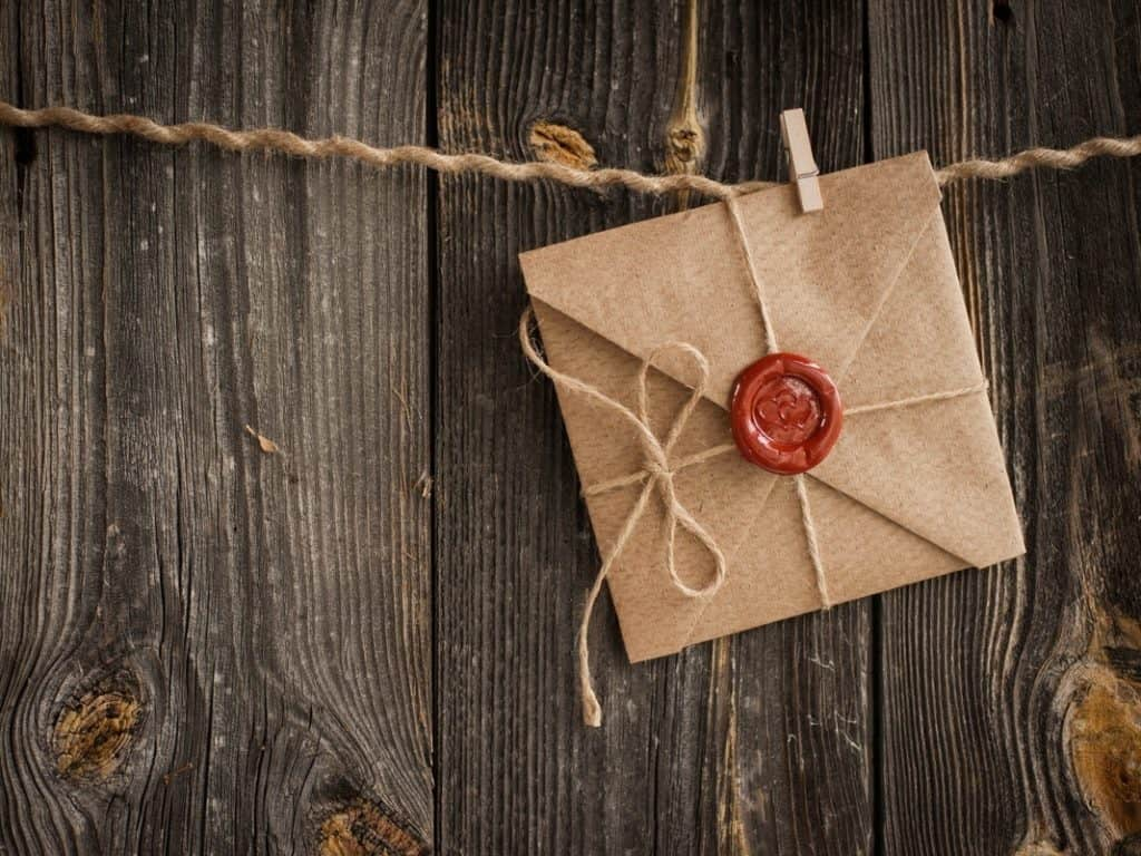 letter with red seal